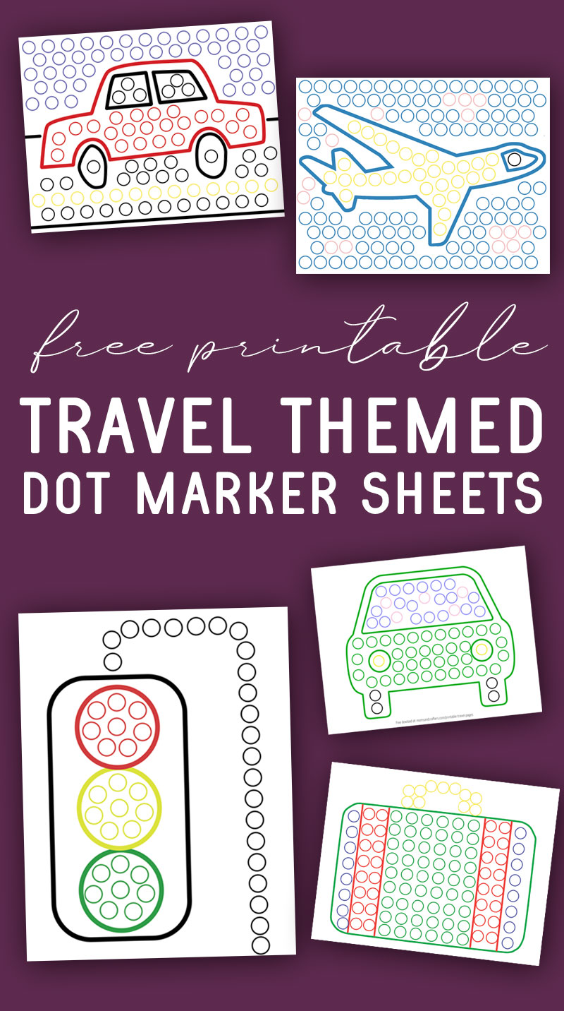 printable travel sheets to use with do a dot markers