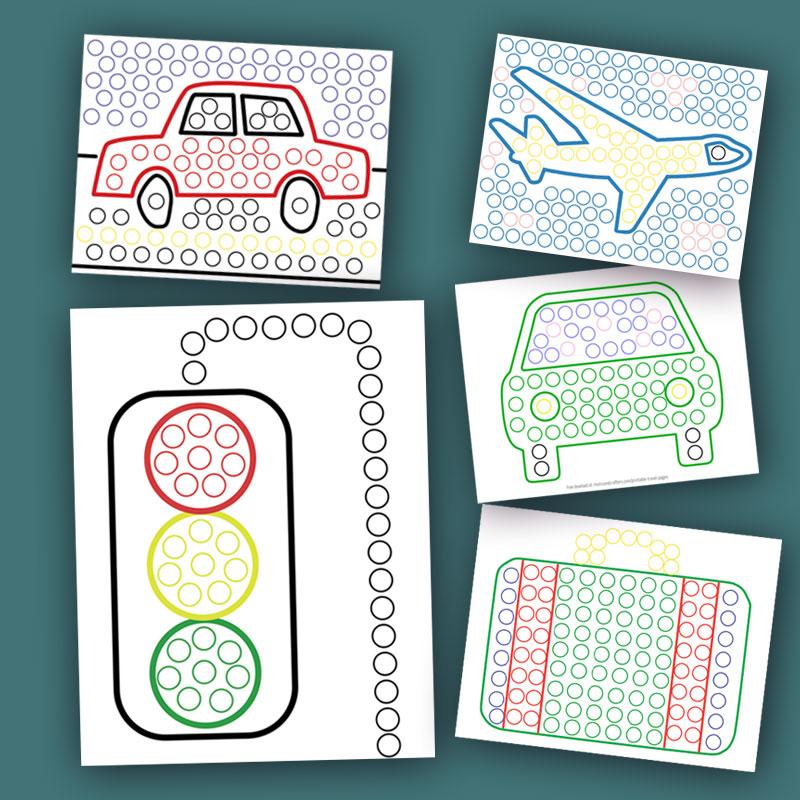 Printable Travel Sheets for Mini Do a Dot