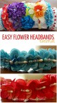 Learn how to make an easy flower headband with this super simple tutorial!