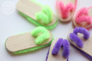 Craft Stick Flip Flop Pairs Kids Activities Blog