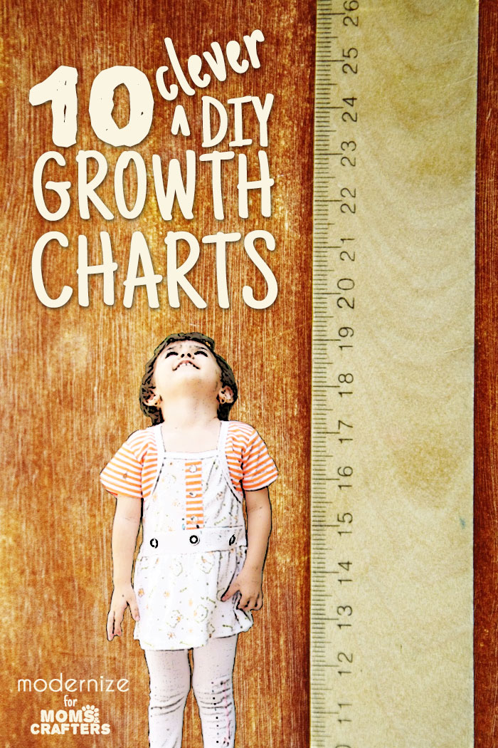 10 awesome and clever DIY growth charts that you can make - a great diy baby gift or keepsake!
