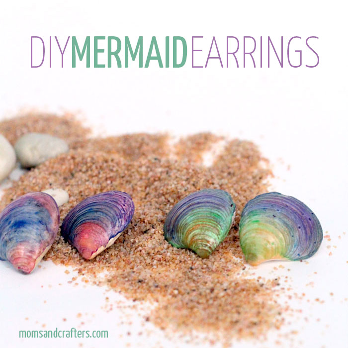 DIY Seashell Earrings - don't they remind you of mermaids?