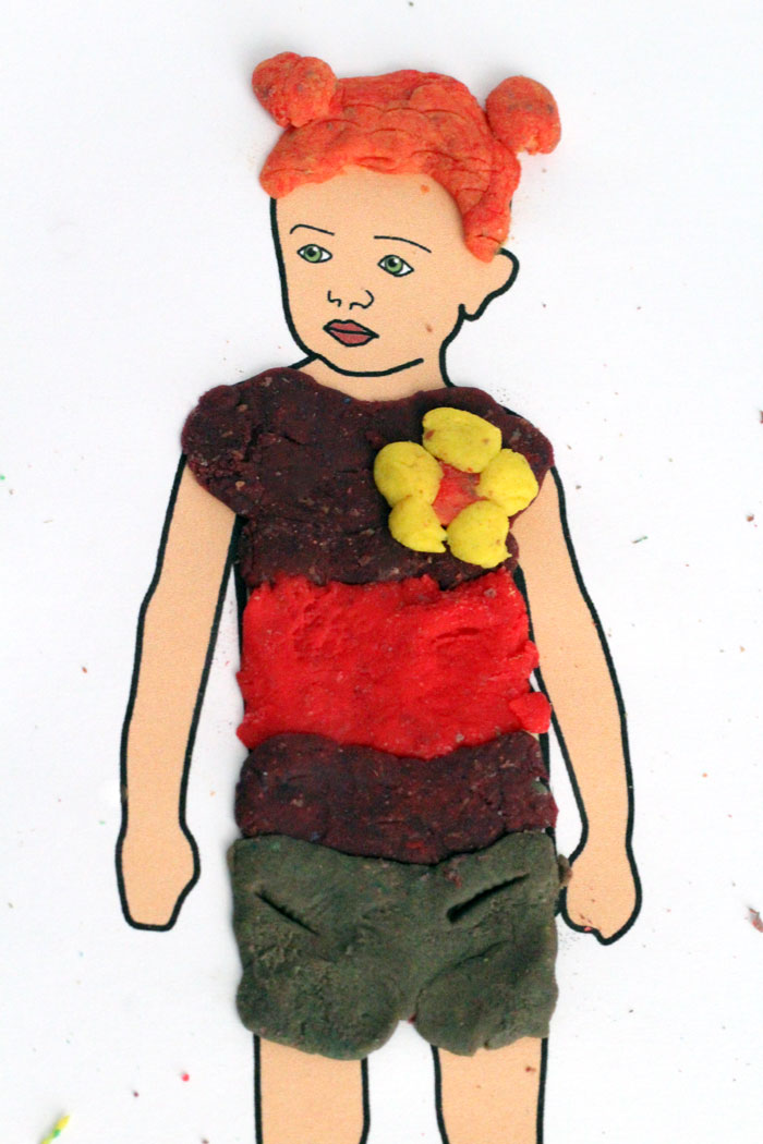 Free Printable Dress Up Dolls Play Dough Mats
