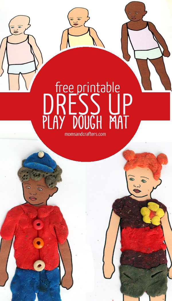 Your child can have endless fun with this Free Printable Dress Up Dolls Play Dough Mats! It's a fun kids activity and good for tweens too.