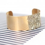 DIY Glitter Blocked Cuff