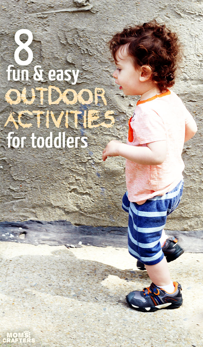 8 easy and simple outdoor activities for toddlers! Outdoors time is so important - unplug and do these fun things. Made easier and more fun wearing Stride Rite Made 2 Play shoes.