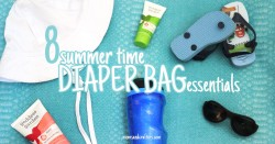 Make your summer days go smoother with these 8 summer diaper bag essentials. What do YOU add into your bag?