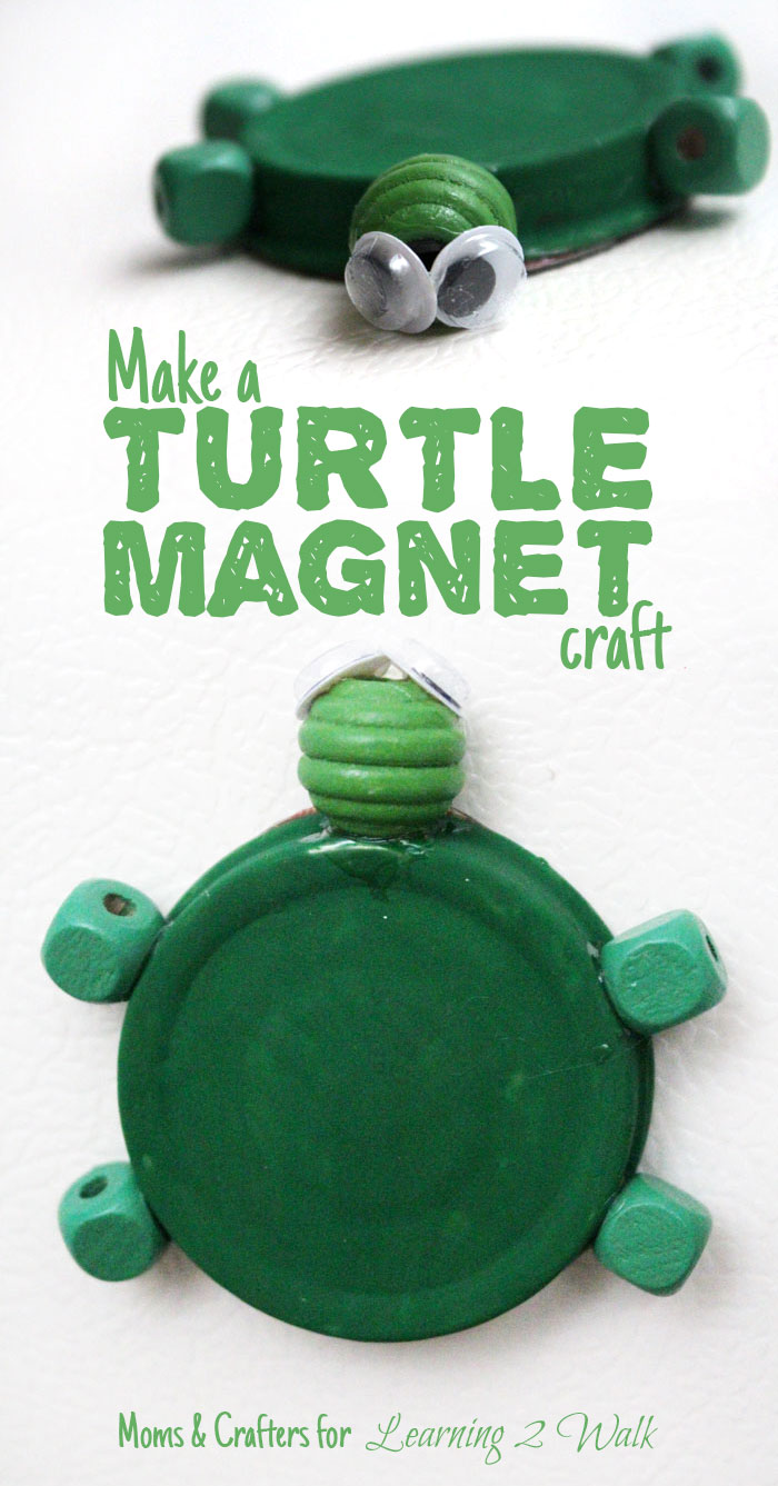 Make an adorable turtle magnet craft on the cheap! Check out this adorable easy upcycled kids craft