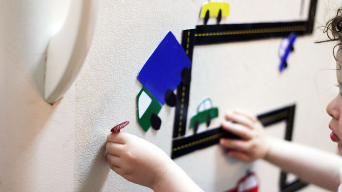 Looking to engage your little ones with a simple and inexpensive activity? Make these DIY car magnets - it will keep them busy for hours! It's a perfect indoor activity for toddlers, and a simple DIY toy.