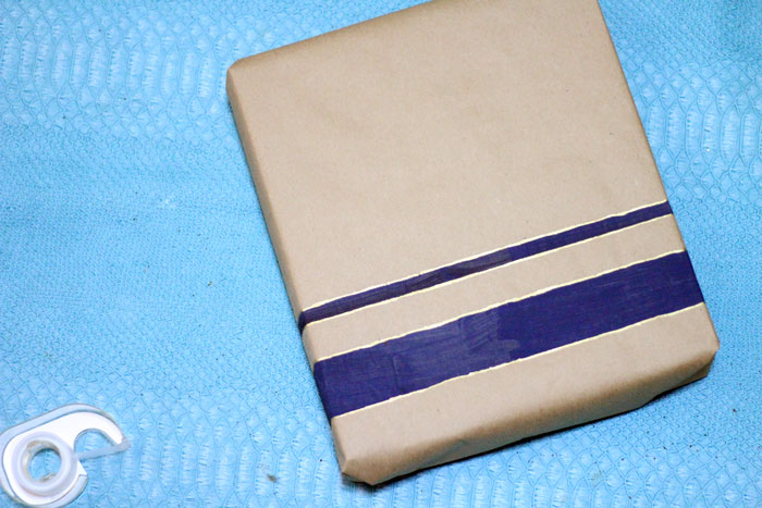 How to make a DIY nautical gift wrap for guys (or gals!)