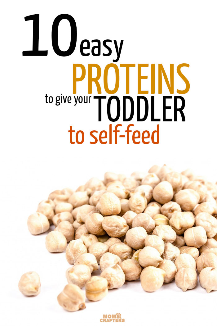 These super easy proteins for toddlers to self feed are perfect for the busy mom dealing with picky toddlers - and they are mom-to-mom toddler nutrition tips that you can relate to.