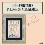 FREE printable Pledge of Allegiance for Fourth of July, Independence day! Or all year round. You don't really need to wait until July 4th to pledge allegiance...