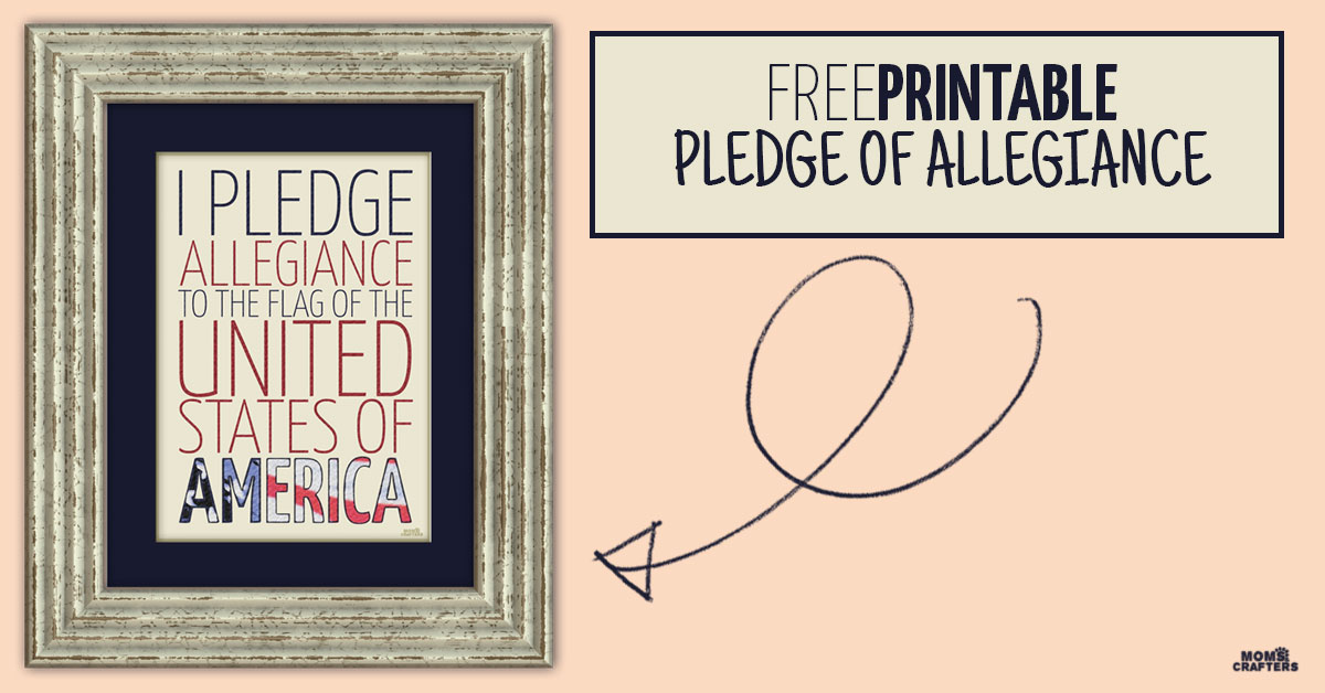 photograph relating to Pledge of Allegiance Printable identified as Cost-free Printable Pledge of Allegiance * Mothers and Crafters