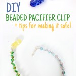 How to make a beaded pacifier holder
