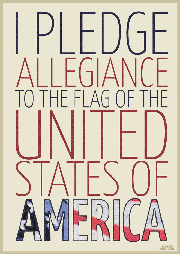 photo relating to Pledge of Allegiance Printable named Cost-free Printable Pledge of Allegiance * Mothers and Crafters