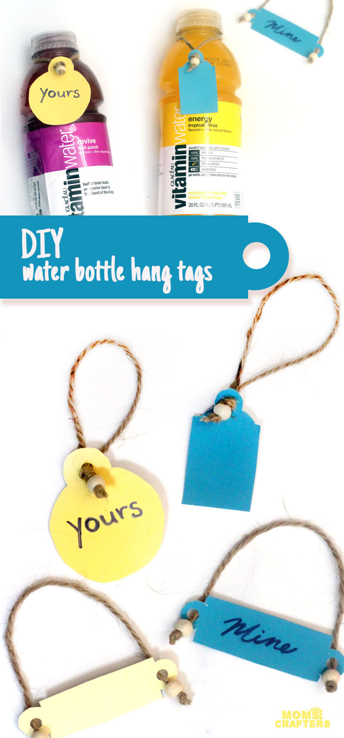 Make these fun DIY water bottle hang tags to remind you to drink, and to avoid confusion at family parties!