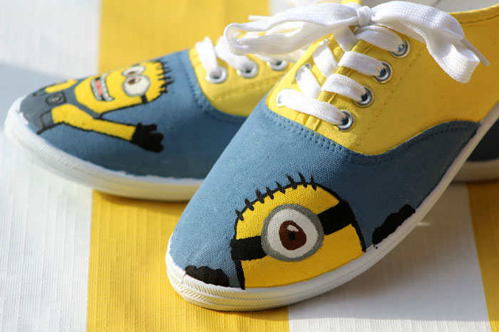 Craft Ideas For Kids To Sell Part - 43: Make These Adorable DIY Minion Shoes By Following These Simple, Step By  Step Instructions.