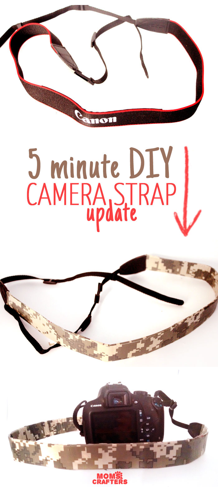Upgrade a camera strap in five minutes with this super easy tutorial! Click for supplies and instructions - anyone can make this easy DIY craft, you don't need skills or experience.