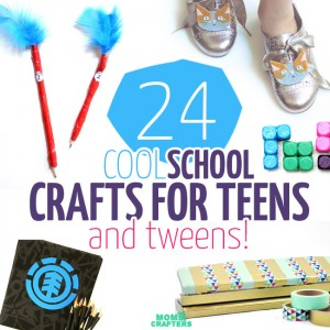 You've got to check out this amazing list of back to school crafts for tweens and teens - I want to make them all!