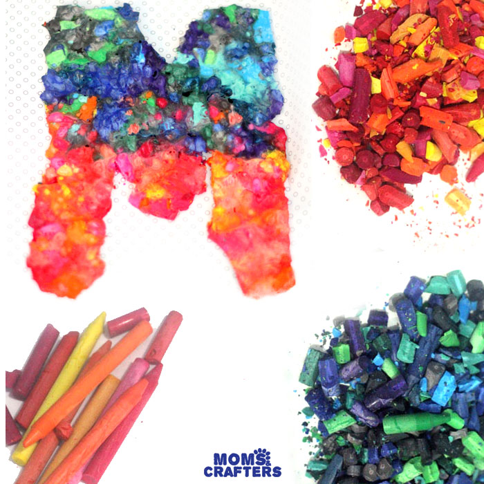 Diy Crayon Initial Art Moms And Crafters