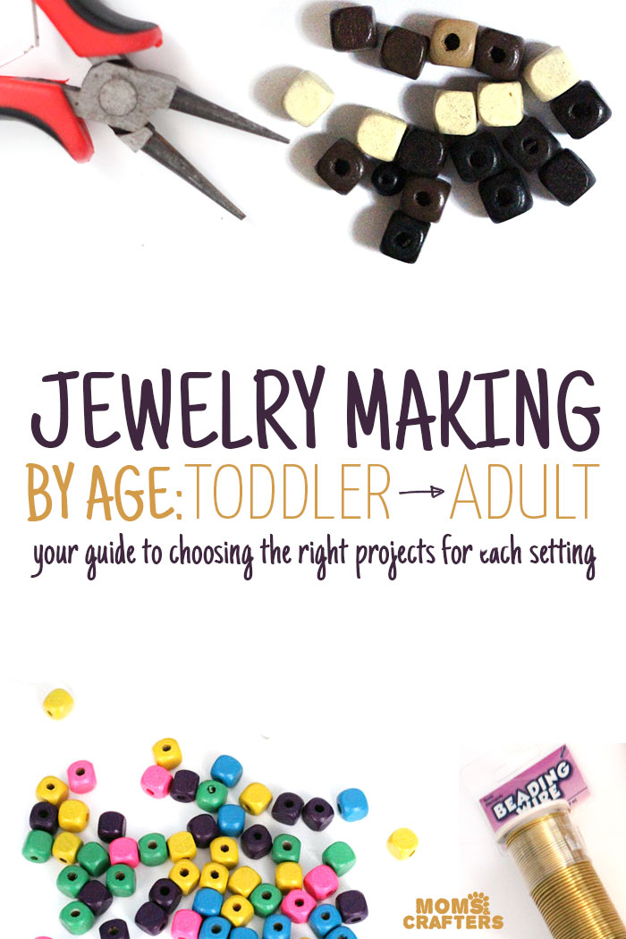 This is the must-read guide for jewelry making activities and crafts by age! Find some great ideas for crafts for kids, including toddlers, preschool, and even teens.