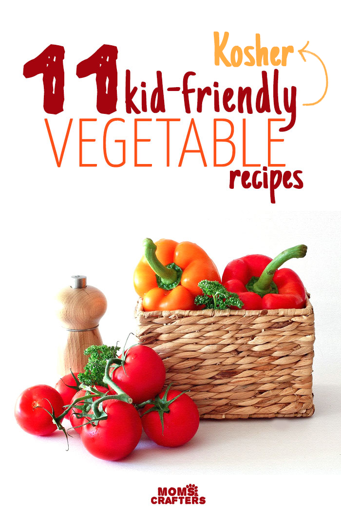 Looking for kid friendly vegetable recipes? This fun list is perfect for toddlers and little children, and is Kosher too!