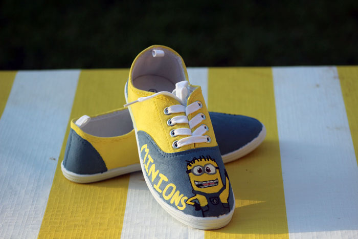 Make these adorable DIY minion shoes and rock them with pride!