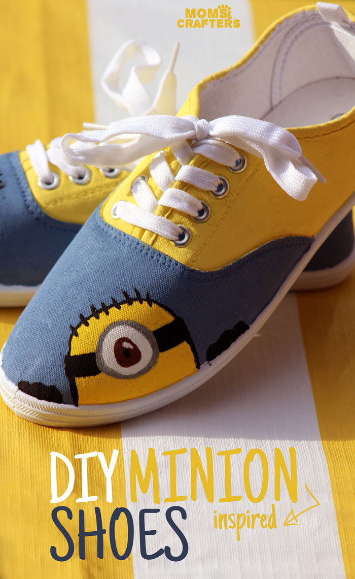 Diy Minion Shoes Moms And Crafters