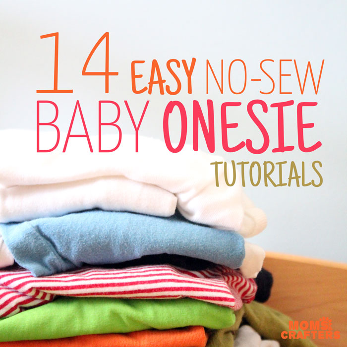 You are going to want to make every one of these adorable DIY no sew onesie ideas! They are perfect baby shower gifts and crafts for baby boys or girls!