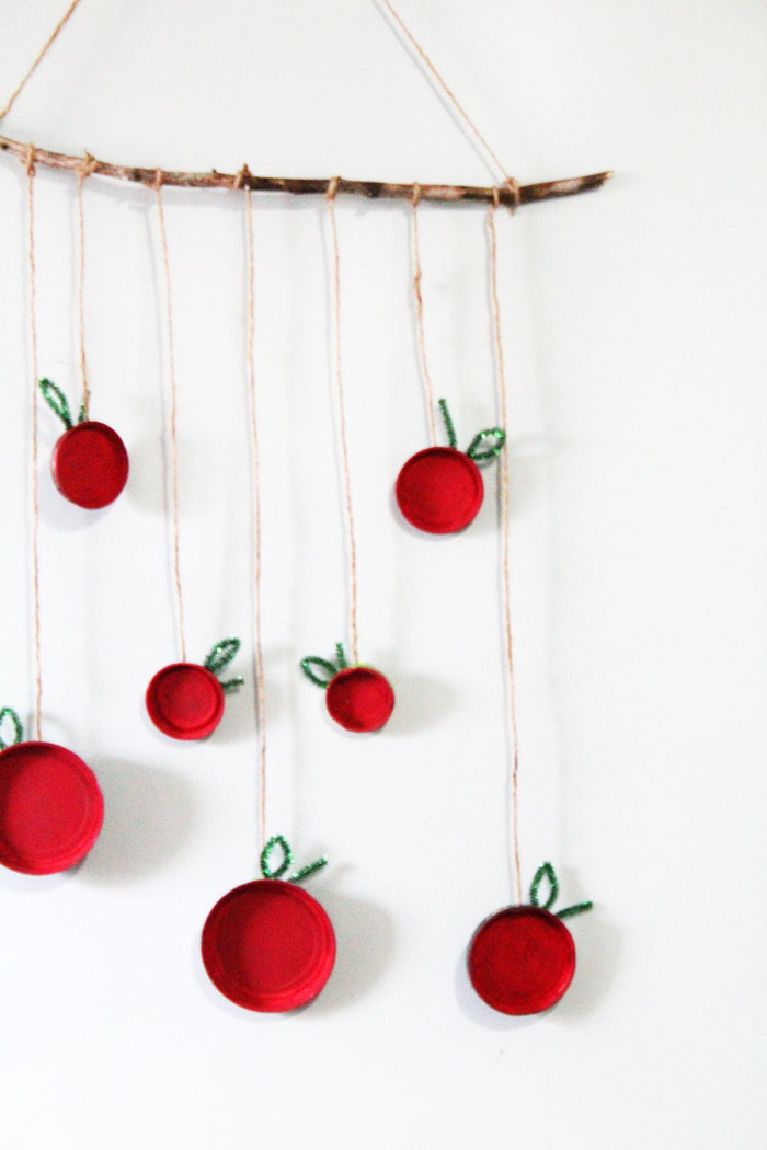 Superb Wall Hanging Craft Ideas For Kids Part - 4: Make This Beautiful Apple Wall Hanging - An Easy, Pretty Apple Craft For  Kids!