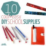 10 DIY school supplies - these are perfect back to school crafts, or for the middle of the year, for teens, tweens, or kids!