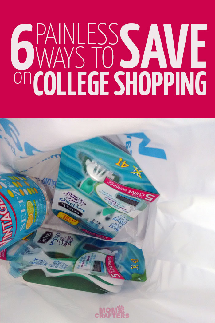 Learn how to save on college shopping with these simple money saving tips!