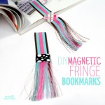 DIY Fringed Magnetic Bookmarks