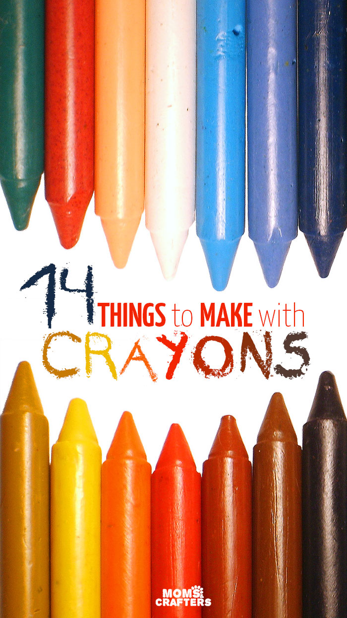 14 Things to Make with Crayons - Moms and Crafters