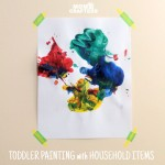 I can't believe I didn't think of this sooner - an easy toddler painting activity that just uses what you have handy! Genius way to entertain toddlers!