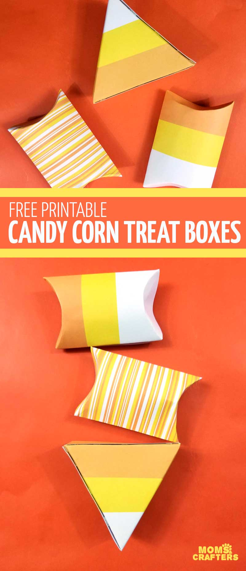 photograph relating to Candy Corn Printable named No cost Printable Sweet Corn Handle Containers * Mothers and Crafters