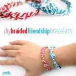 Make these adorable DIY braided friendship bracelet! A quirky jewelry making craft to learn some basic techniques.