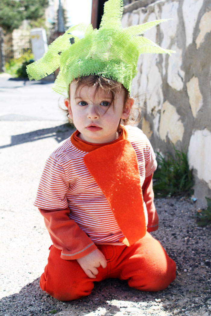 I love this Halloween costume for toddlers - such a great DIY idea! It's a no sew carrot costume that's really cheap and easy to put together too.