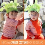 DIY No Sew Carrot Costume for Toddlers