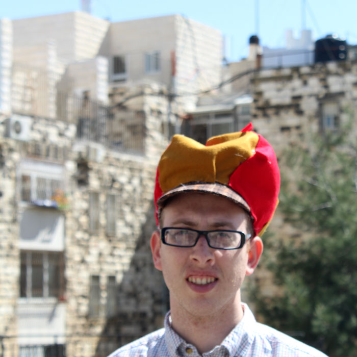 Make this funny, if not realistic Elmer Fudd hunting hat to go with a no sew costume for Halloween or Purim!