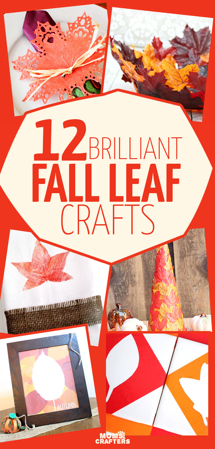 These 12 brilliant fall leaf crafts are amazing! Includes lots of fun DIY Autumn decor ideas for you home.