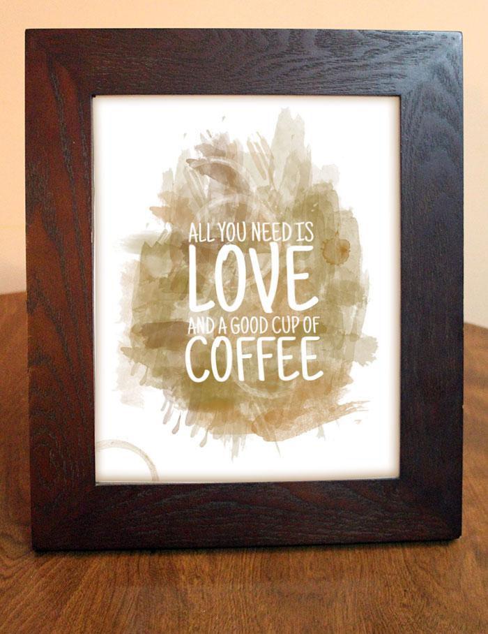 Free printable coffee wall art 2
