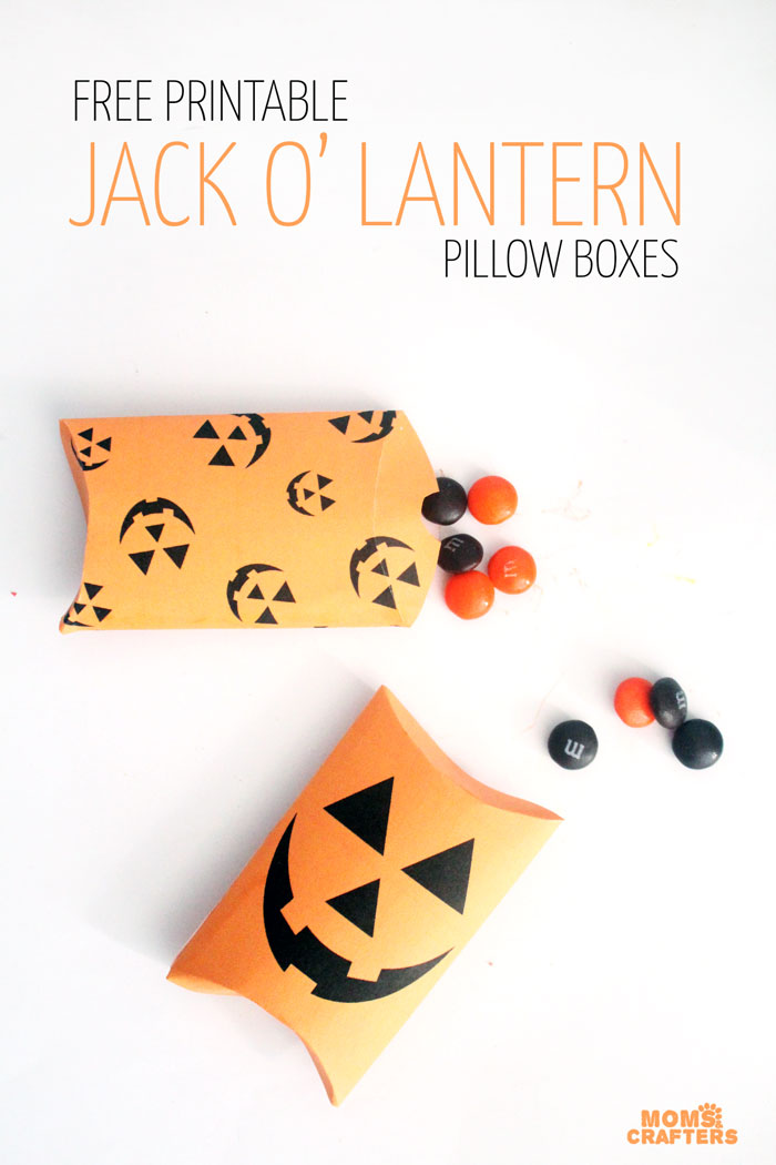 picture regarding Printable Boxes titled No cost Printable Halloween Deal with Packing containers * Mothers and Crafters