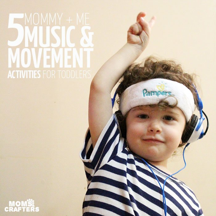 5 Mommy and Me Music and Movement activities for toddlers - you'll love doing this with your 1-3 year old!