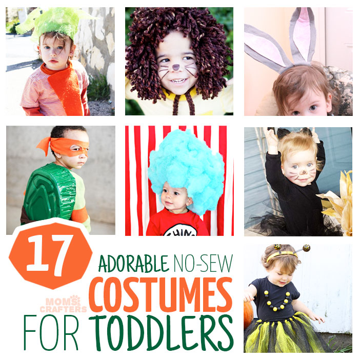 17 diy no sew costumes for toddlers moms and crafters the diy halloween costumes or dress up you can make without sewing is unbelievable solutioingenieria Gallery