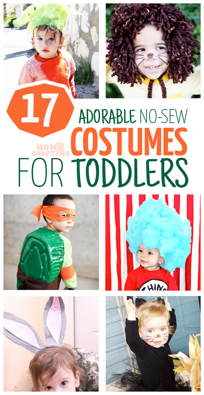The DIY Halloween costumes (or dress up) you can make WITHOUT SEWING is unbelievable  sc 1 st  Moms and Crafters & 17 DIY No Sew Costumes for Toddlers - Moms and Crafters