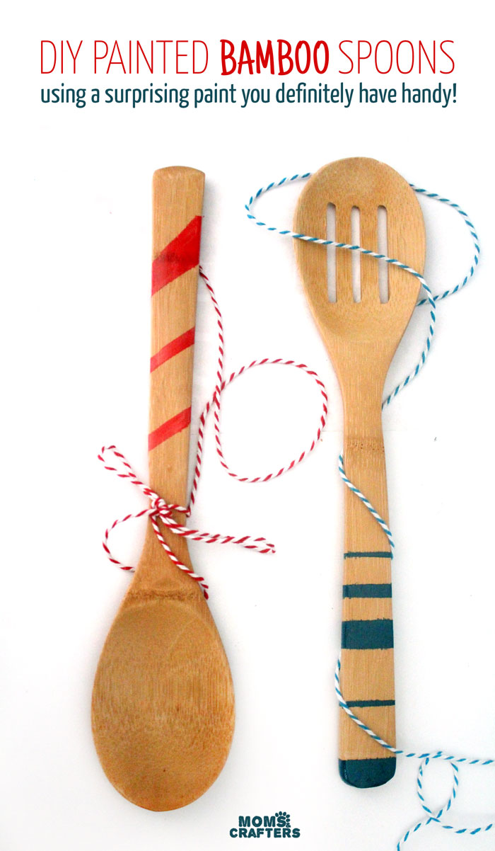 Click To Find Out The Surprising Material Used To Paint These Wooden Spoons!  Painted Wooden