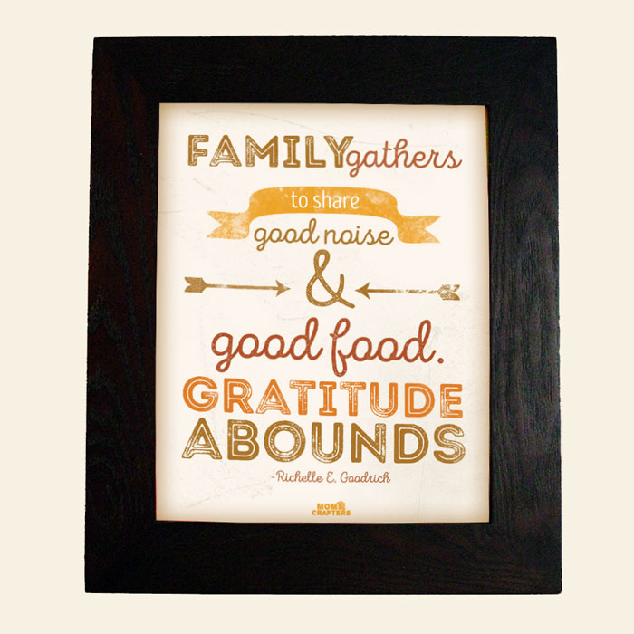 Get a free printable thanksgiving wall art home sign to add some great thankful spirit to your autumn decor!