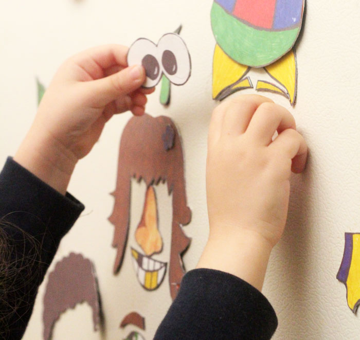 Aren't these funny face magnets adorable? Click for this free printable kids activity - perfect for toddlers, preschool, and beyond!