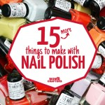 15 more cool and functional nail polish crafts! These quick and easy crafts are perfect crafts for teens and tweens, or for when you're short on time and all use a common ingredient: nail polish!